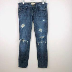 Current Elliott Destroyed Skinny Jeans 24